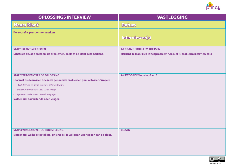 Oplossings interview card