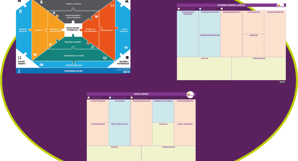 business model canvas, lean canvas, strategie schets vergeleken